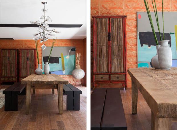 โต๊ะไม้เก่า แต่งบ้านเท่