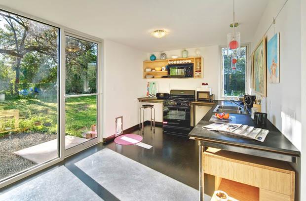 แบบห้องครัวบ้านบ้าน พื้นปูนขัดมัน