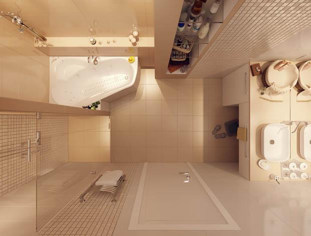 30 صورة ديكور حمامات صغيرة المساحة 2015 ديكور بلس