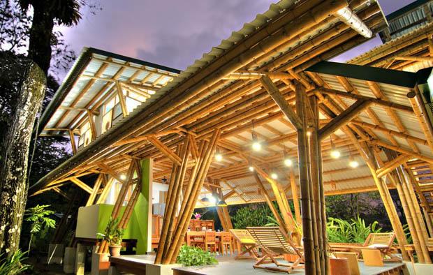 บ้านทำจากไม้ไผ่ สวย ประหยัดพลังงาน