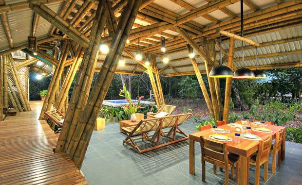 โครงสร้างบ้าน ทำจากไม้ไผ่