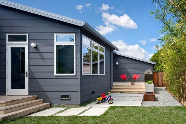 แบบบ้านหลังคา Lean To ชั้นเดียว ทาสีบ้านสวย บ้านไอเดีย