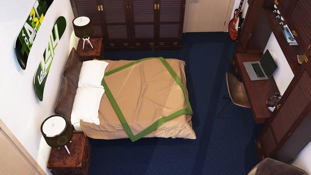 ภาพมุมสูงห้องนอน