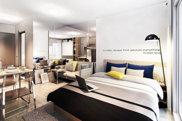 ห้องตัวอย่าง Elio Condo Living Easy