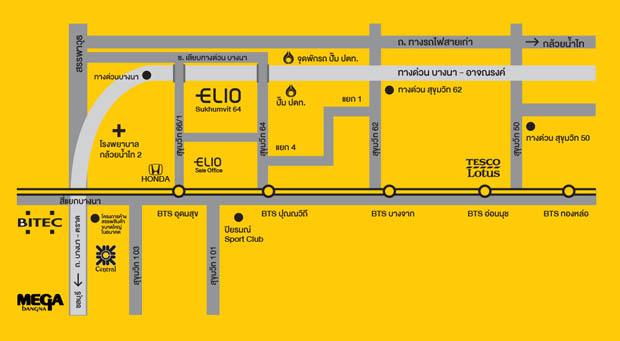 แผนที่ทางไป Elio เอลลิโอ สุขุมวิท 64