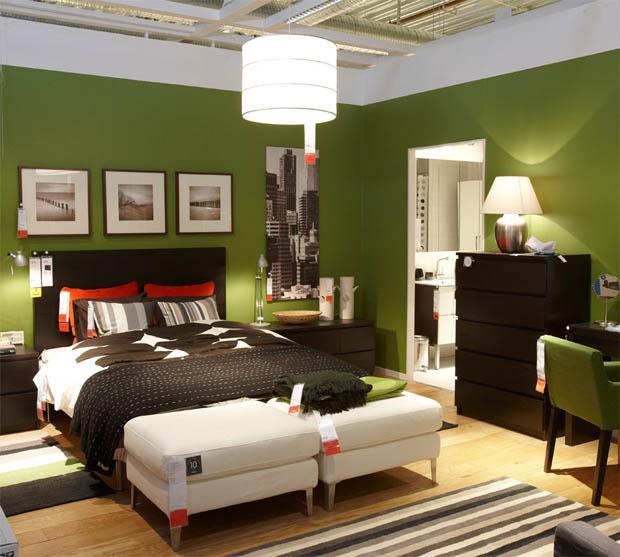 ห้องนอนสีเขียวคลาสสิค