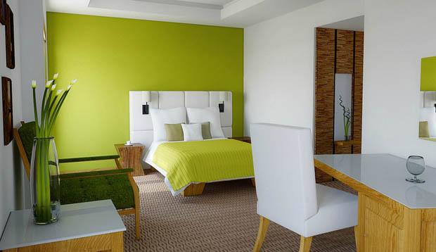ผนังห้องสีเขียว
