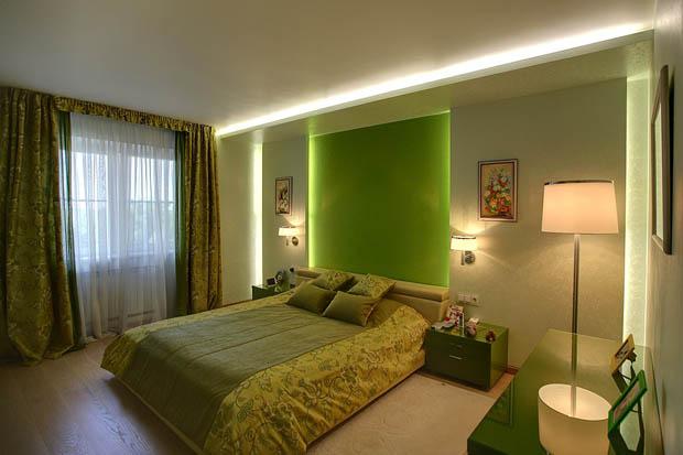 ผ้าปูที่นอนสีเขียว