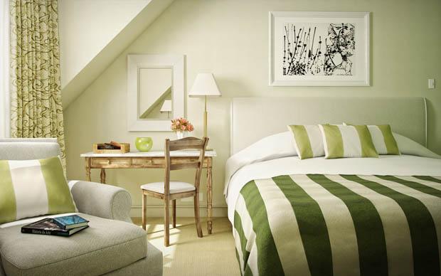 จัดห้องนอนสีเขียว