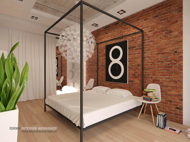 ห้องนอนสไตล์loft