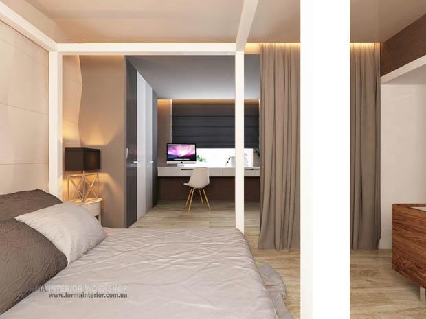 ห้องนอนมีห้องทำงาน