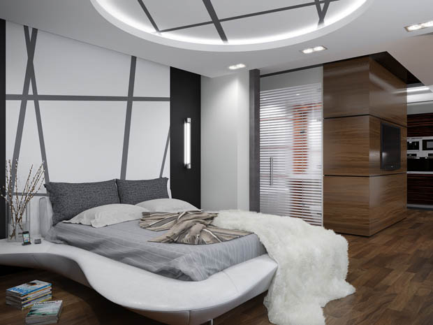 แต่งห้องนอนในอพาร์ทเม้นท์