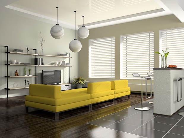 แบบโซฟาสีเหลือง