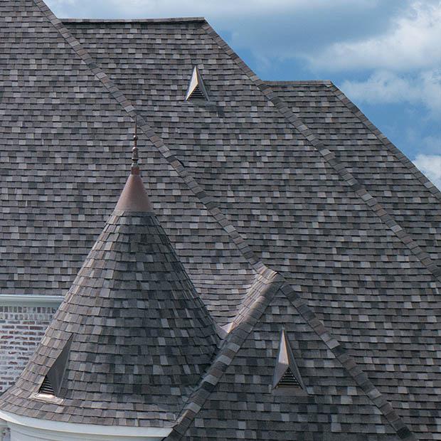 แบบหลังคาซิงเกิ้ล Asphalt Shingles Roof