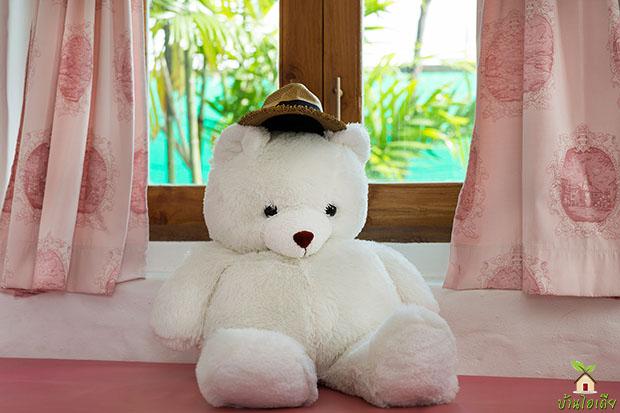 ตุ๊กตาหมี น่ารัก สีขาว