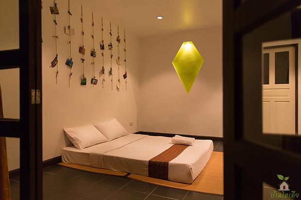 ห้องนอนแบบนอนพื้น ปูนขัดมัน