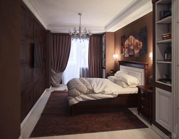 ห้องนอนสีน้ำตาล