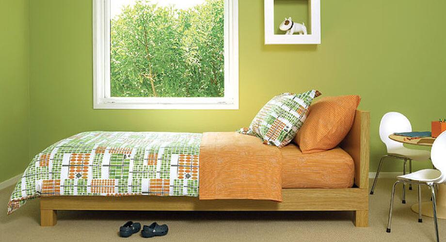 รวมแบบห้องนอนสีเขียว