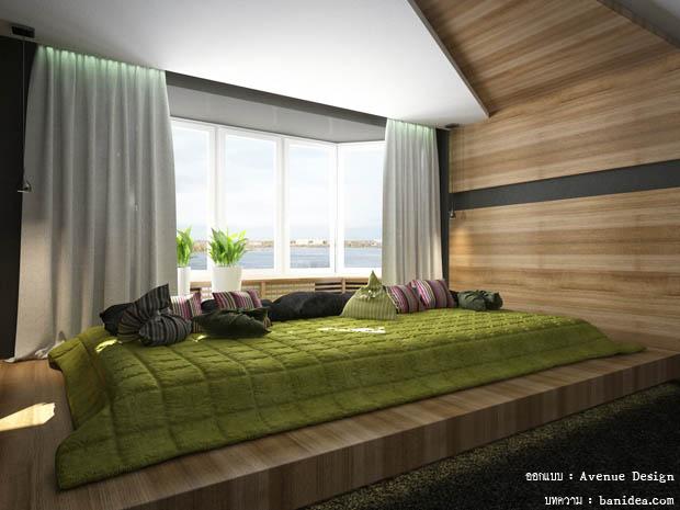 แต่งห้องนอนแบบนอนพื้น