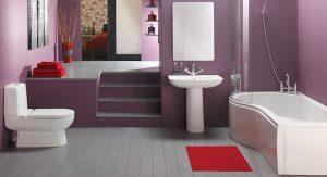 ห้องน้ำสีม่วง