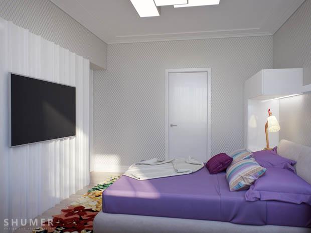 เตียงนอนสีขาว สวยงาม
