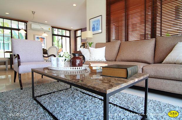 โต๊ะไม้ ขาตั้งเหล็ก Loft Table