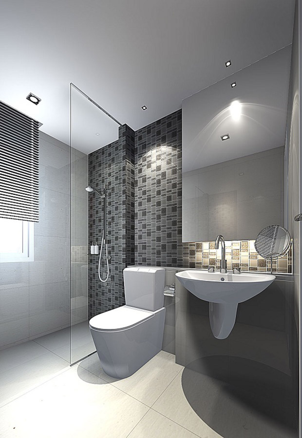 ตัวอย่างการออกแบบ ห้องน้ำคอนโด