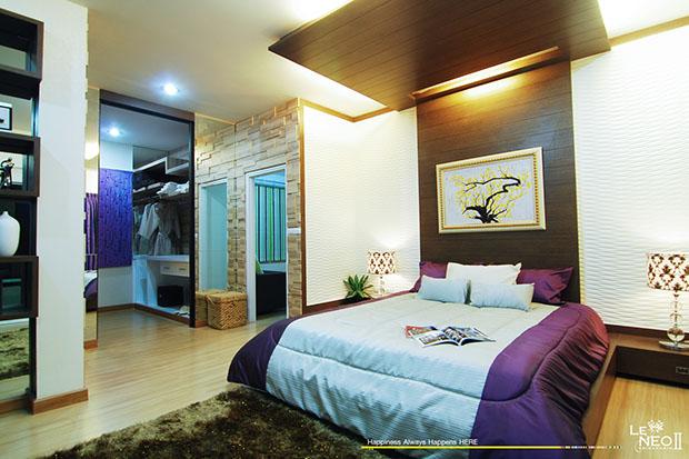 ห้องนอน ในบ้าน เลอ นีโอ 2 ชั้น 3 ห้องนอน