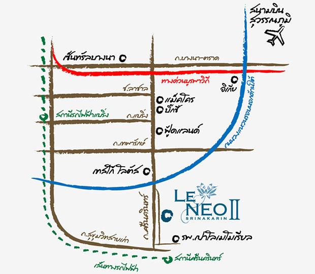 แผนที่ โครงการ Le NEO II