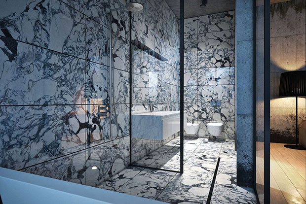 แบบห้องน้ำสไตล์อิตาเลี่ยน