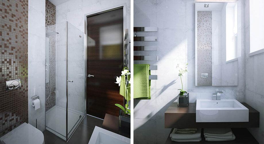 ออกแบบห้องน้ำขนาดเล็ก