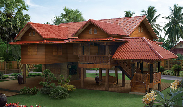 for Tropical elevated house designs