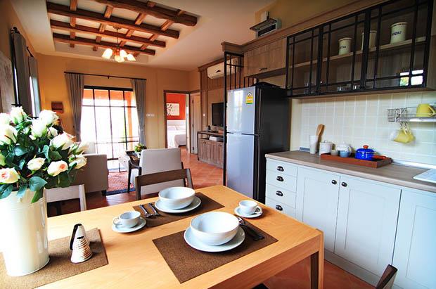 แต่งห้องครัว บ้านทาวน์โฮม
