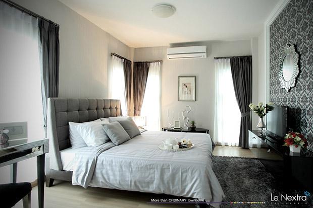 ห้องนอนบ้านทาวน์โฮม