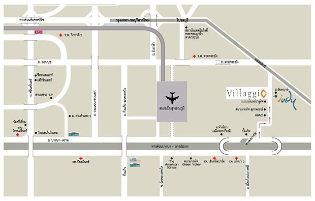 แผนที่โครงการ Villaggio บางนา