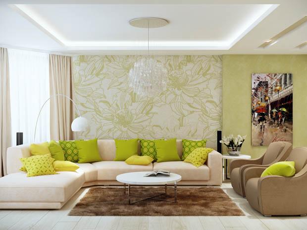 ห้องนั่งเล่นสีเขียว