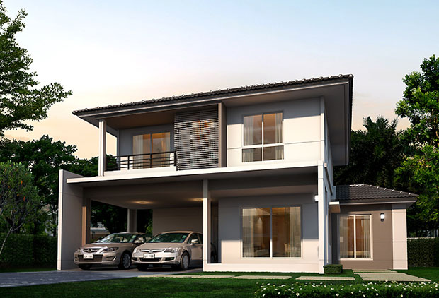 แบบบ้านใหม่ สีวลี Land and House