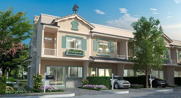 ตัวอย่างโครงการบ้าน Villaggio บางนา