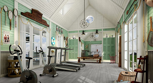 ห้องออกกำลังกาย ฟิตเนส