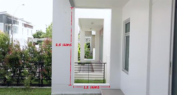 วัดขนาดพื้นที่ สัดส่วนเพื่อติดตั้ง