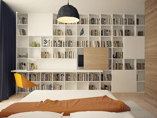 ห้องนอนหนังสือเยอะ