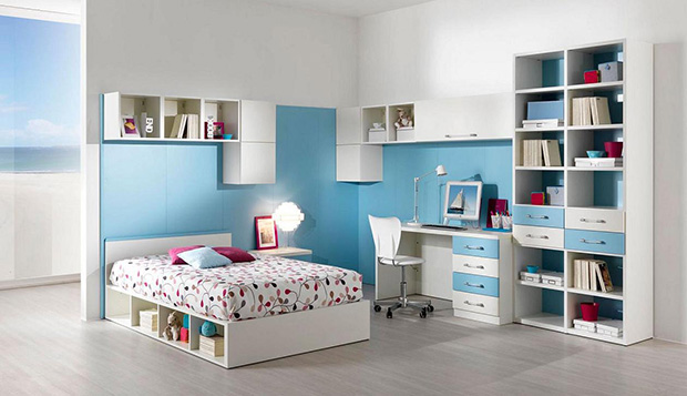Blue Bedroom Interior Design