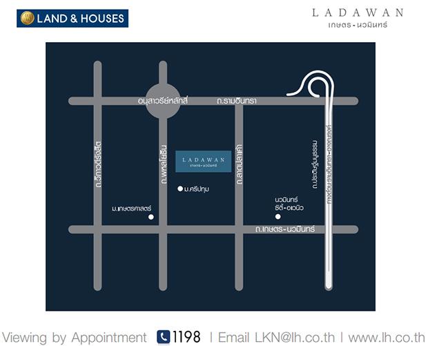 แผนที่ ทางไป โครงการบ้านลดาวัลย์ แลนด์ แอนด์ เฮาส์