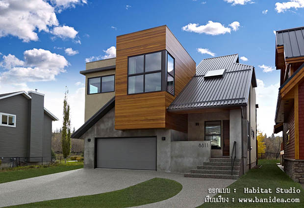 ออกแบบบ้านสไตล์ Contemporary