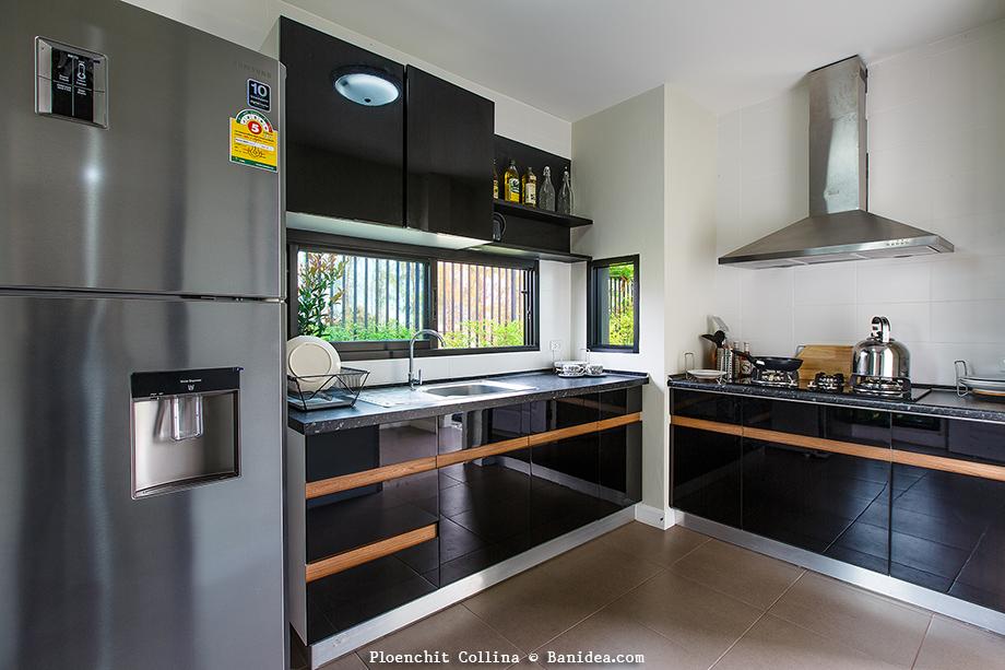 แบบห้องครัวไทย ขนาดเล็ก ซิงค์ล้างจาน