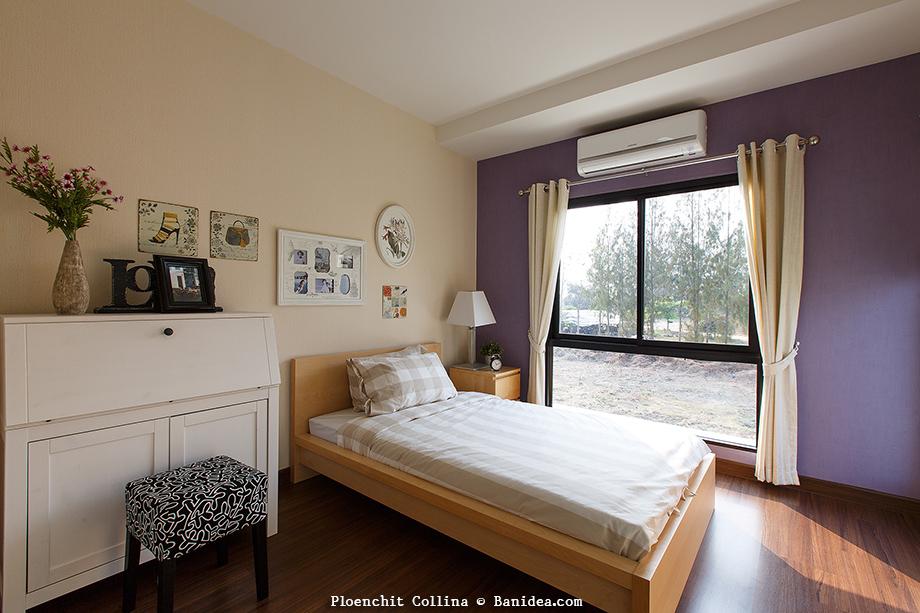 แบบห้องนอนตัวอย่าง โครงการเพลินจิต คอลลิน่า