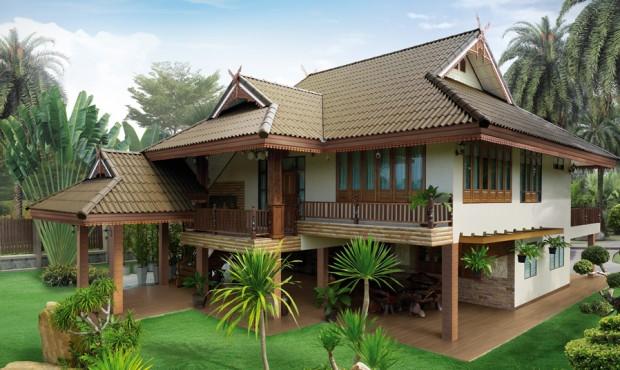 แบบบ้านไทยประยุกต์ ยกพื้นสูง