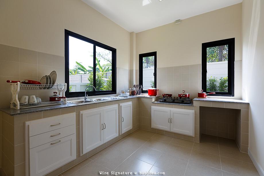 ห้องครัวไทย เพิ่มช่องหน้าต่างให้ปลอดโปร่ง