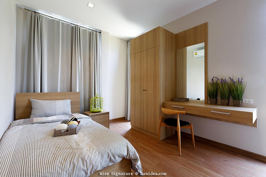 ห้องนอนผู้สูงอายุ ชั้นล่างของบ้าน
