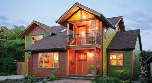 บ้านไม้หลากสี